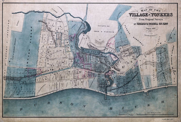 Map of the Village of Yonkers County Clerk Historical Maps